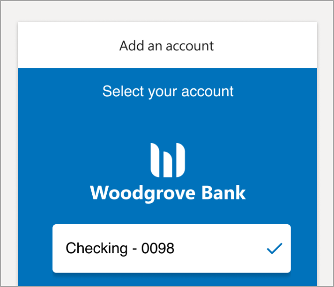 Select the account or accounts you want to add.