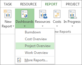 Create a project report project dashboard menu on the report tab pronofoot35fo Images