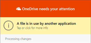 "OneDrive ""file in use"" dialog"