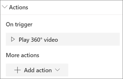 video actions