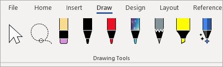 Microsoft 365 Drawing Tools pens