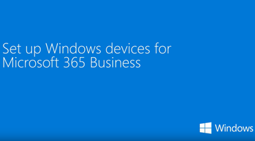 Link to a YouTube video on setting up Windows devices