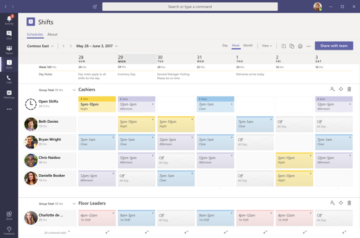 Microsoft Teams Shifts for hospitals