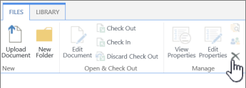 Delete Document on the File tab