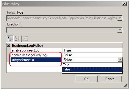 Edit Policy screen