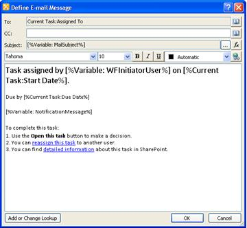 Customize an email notification for an SAP workflow task - Duet