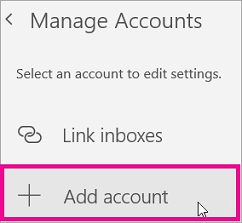 Set up email in the Mail app for Windows 10 - Outlook