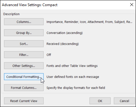 Advanced View Settings
