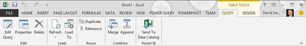 Power Query - Query Ribbon