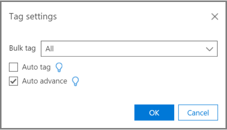 Relevance Tag settings