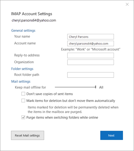 Change the display name that e-mail recipients see - Outlook
