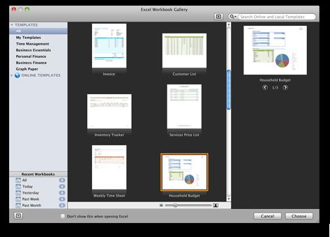Excel Workbook Gallery