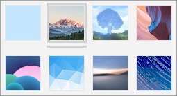 A screenshot of available background images