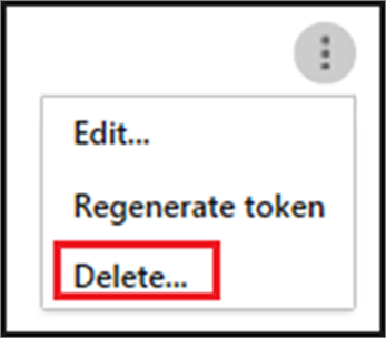 To delete a SIEM agent, choose the ellipses, and then choose Delete.