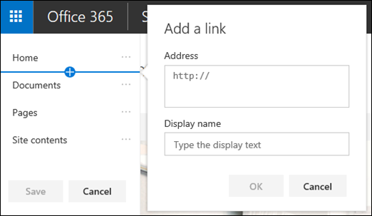 SharePoint edit top menu