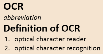 OCR overview