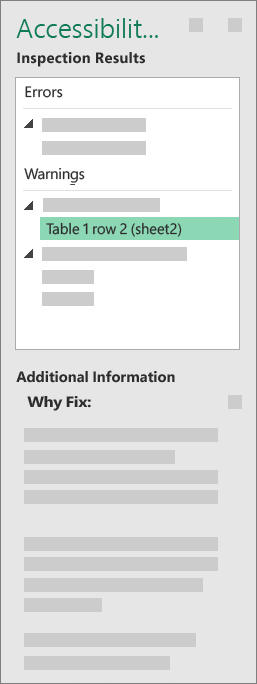 Task Pane Results with Additional Information
