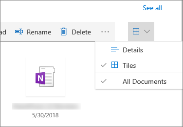 Tiled view in document library