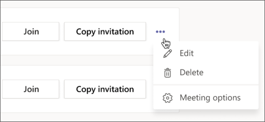 Screenshot of more options menu on a Teams for Free meeting