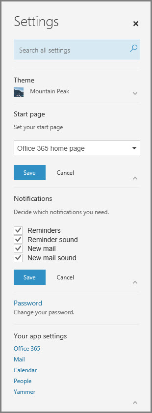 Office 365 Notifications