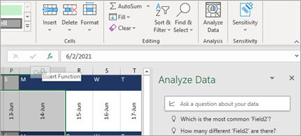 Analyse data