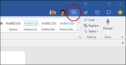 Chat icon in Word ribbon_C3_2017119131743