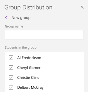 Select checkboxes next to student names.