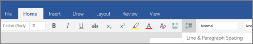 Line & Paragraph Spacing icon