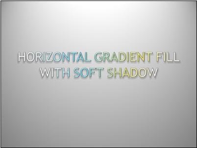 Horizontal gradient-filled text with soft shadow