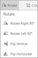 Rotate menu