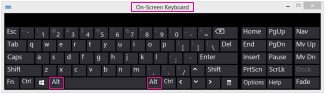 Windows 8 On-Screen Keyboard with Alt keys