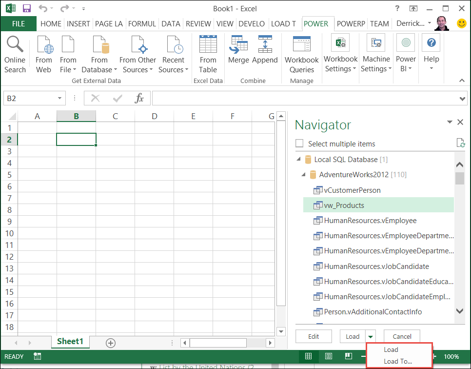 Add a query to an excel worksheet power query excel navigator ibookread PDF