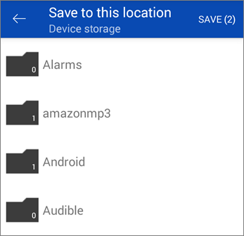 Save files from OneDrive