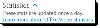 Office 365 Video Statistics