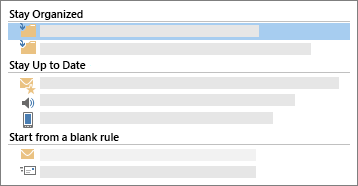 Conceptual screenshot of the Email Rules functionality