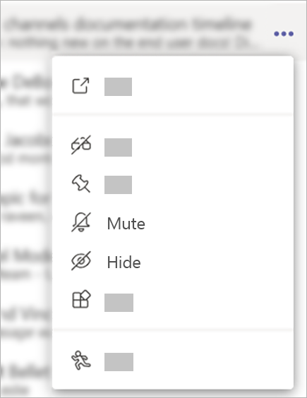 Mute or hide a chat in Teams