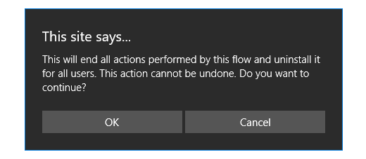 Image of the delete warning.