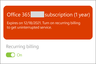 Review the details of your Office 365 subscription