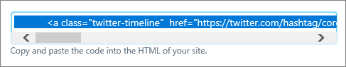 Twitter search HTML code