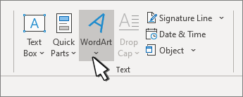 Insert WordArt with the WordArt button