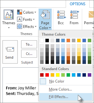 Remove or change stationery and color backgrounds on replies and forwards -  Outlook