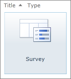 SharePoint 2010 Survey icon
