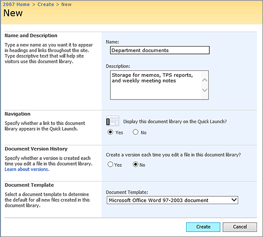 create a document library in sharepoint sharepoint With document library name sharepoint