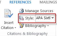 Choose your reference style for creating citations and bibliographies.