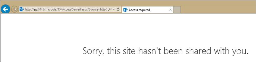 Screenshot of the error messge