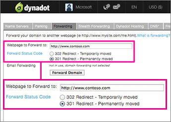 Dynadot-Redirect-1