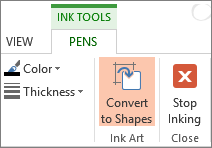 Convert ink drawings to shapes