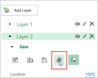 Heat Map icon in Layer Pane