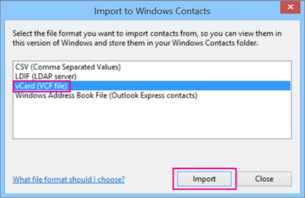 Import contacts from iCloud (vCard  vcf file) to Outlook - Office