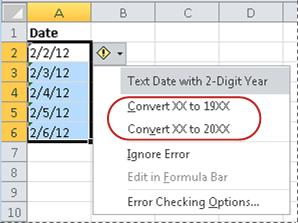 Convert dates stored as text to dates - Excel